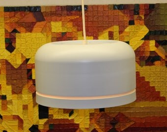 Mid Century Modern vintage, Lightolier metal ceiling light, hanging lamp