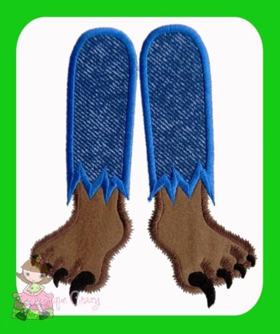 Werewolf Feet  Applique design