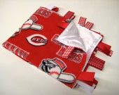 RESERVED for downtime64.  Cincinnati Reds Baby Toddler Blanket Baseball