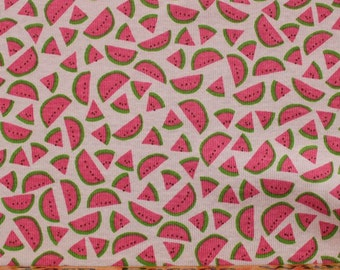 Watermelons Cotton Rib Knit Fabric