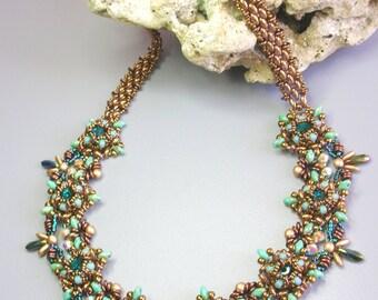Tutorial - Astra necklace - Superduo beading Tutorial Necklace