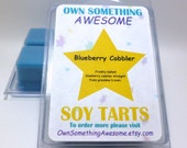 Blueberry Cobbler Soy Tart Melts - Scented Wax Bar