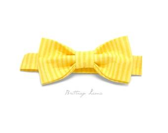 Robert - Yellow & Pastel Yellow Velcro Adjustable Bow Tie
