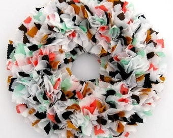 Choose Your Colors Wreath - Custom Wreath - Spring Wreath - Summer Wreath - Wedding Wreath - Shabby Wreath - Cottage Wreath - Rag Wreath
