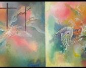 """Original Acrylic 40"""" Jesus Painting """"Come Unto Me"""""""