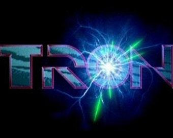 Cross-stitch- Pattern only- Tron video game, classic video game, classic cross stitch, nerd cross stitch, geek cross stitch