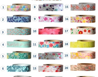 Washi Tape - FLORAL Collection