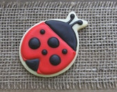 Ladybug Party Favors / Ladybug Favors / 1st Birthday Favors / Gifts for Mother's Day / Cute as a Bug / Ladybug Sugar Cookies - 12 cookies