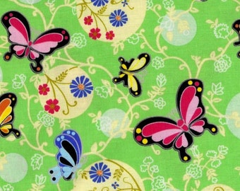 Bubbles and Butterflies fabric by Beverly Ann Stillwell for Lyndhurst Studio 1/2 yard