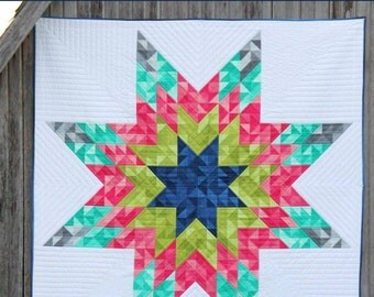 V and Co. - Ombre Lonestar Quilt Pattern