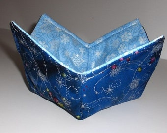 Hot Bowl Holder for the Microwave  - Snowflakes