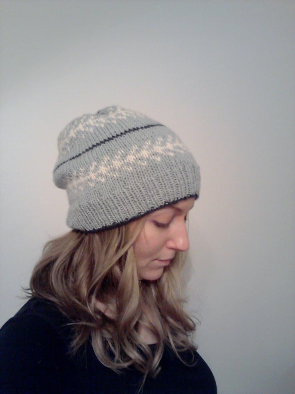 Slouchy Hat Knitting Pattern Circular Needles : SVEA Slouchy Knit Hat Knitting PDF Pattern