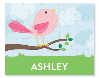 Cute Bird Puzzle - Personalized Puzzle for Kids - Jigsaw Puzzle - Children Puzzles - Personalized Name Puzzle - 8 x 10 puzzle, 20 pieces