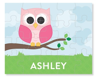 Owl Puzzle - Personalized Puzzle for Kids - Jigsaw Puzzle - Children Puzzles - Personalized Name Puzzle - 8 x 10 puzzle, 20 pieces
