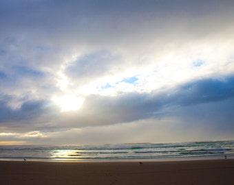 Sunset on Rockaway Beach - 16 X 20 Canvas Print