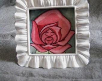 Alice in Wonderland Flower Mini Painting