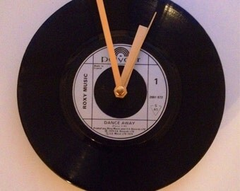 Roxy Music Vinyl Record Clock (Dance Away)
