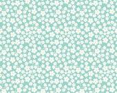 Primrose Garden by Riley Blake, Floral Fabric, Aqua Fabric, Aqua Daisy, Mint Fabric, 02296