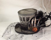 Handmade Minature Top Hat - Halloween themed