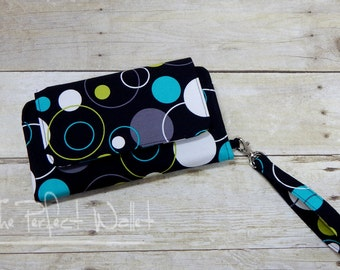 Wallet Clutch iPhone 6 PLUS Wallet Case or Samsung Galaxy Note Wallet Accessory...Cell Phone Wallet; Smart Phone Wristlet Wallet