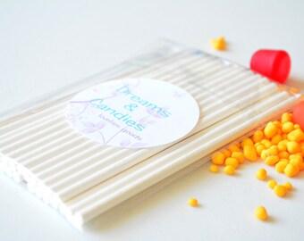 "100 Lollipop Stick - Cake Pop Stick- Cake Cup Topper Stick- on size 4.50"" and 6"""