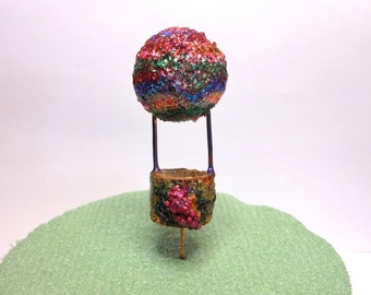 Fairy Garden Balloon-Terrarium Hot Air Balloon Ride/OOAK/Fairy/
