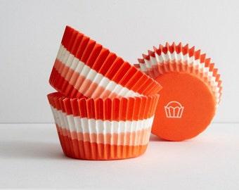 Cupcake Liners  Orange Swirl Baking Cups ( 50 )  Bright  Fun Baking Cups  Standard