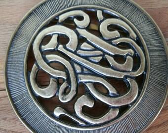 Brass Round Belt Buckle