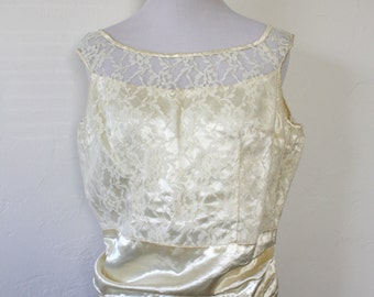 Vintage Handmade Silk Bridal Sleeveless Top
