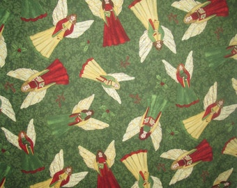Choirs of Angels Christmas Fabric by the Yard