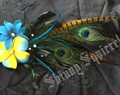 Blue and Yellow Hair Clip
