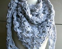 Crochet Pattern, scarf crochet pattern, white winter scarf crochet pattern 204