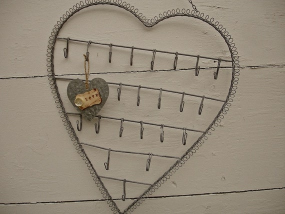 Large Heart Wall Decor : Vintage large silver heart shape wall hanging metal