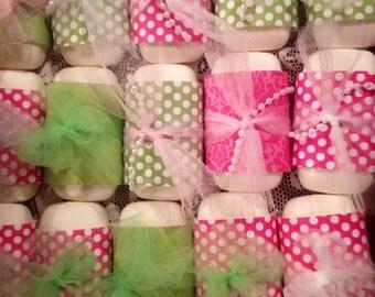 One Dozen Handmade Bar Soap Baby Shower Favor Soap Bridal or Baby Shower Soap Favors