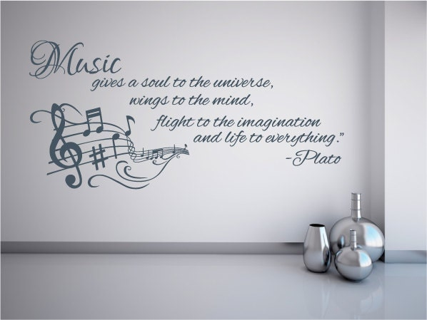 Xl Music Gives Soul To The Universe Wall Decal Sticker