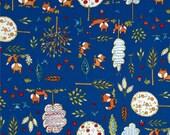 Dena Designs - Free Spirit Fabric - Fox Playground - Playground - Navy - Choose Your Cut-1/2 or Full Yard