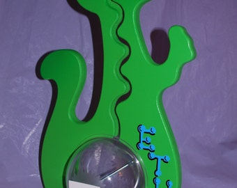 Personalized Big Belly Green Dinosaur Bank