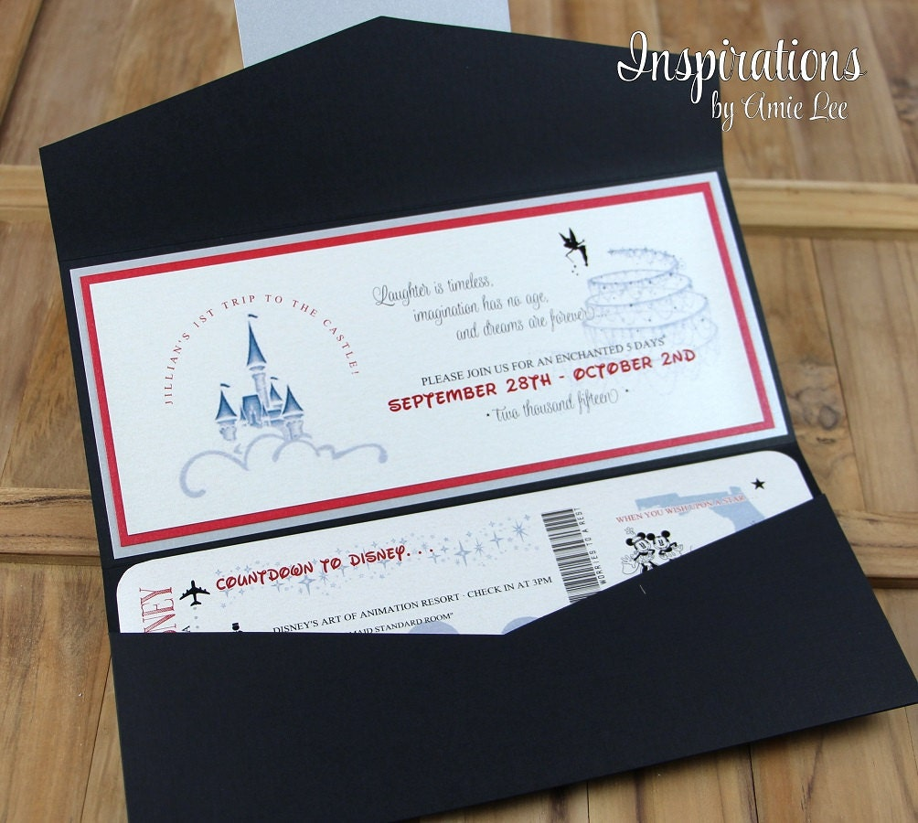 Disney Wedding Invitations Disney Boarding Pass Wedding