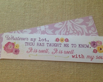 Bookmark - Scripture - Hymn - It is Well with My Soul