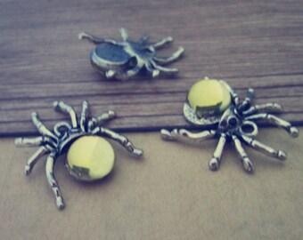 12pcs  Antique silver spider charm pendant 20mmx25mm