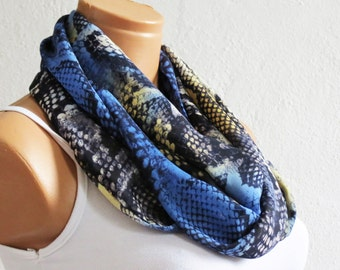 Woman scarves Navy Blue, Gift for her, infinity scarves for woman, Eternity, Circle, Loop Scarf, Accessories for Teens or Adults, SCARVES