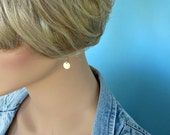 Minimalist Gold Filled Disc Earrings - Simple - Small - Contemporary