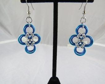 Frozen Japanese Cross Earrings