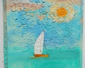 Sail Away painted canvas