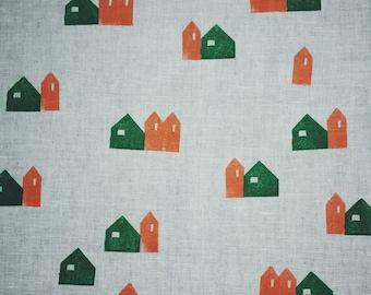 Scandinavian houses tea towel