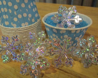 Snowflake Cupcake Ring Toppers ~ Frozen~ Set of 12