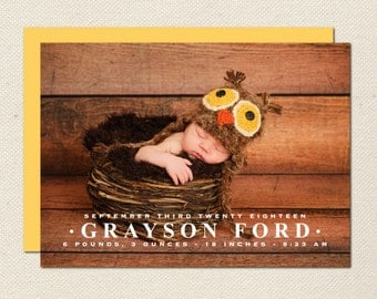 Birth Announcement Photography Template - 0006 - Photoshop Template