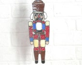 Stained Glass Nutcracker Suncatcher
