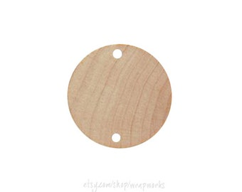 25 Wooden Birthday Board Tags Unfinished for Painting, Staining, Embellishing 1 1/2 Inches