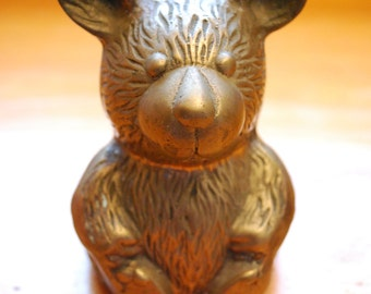 Antique BRASS TEDDY BEAR